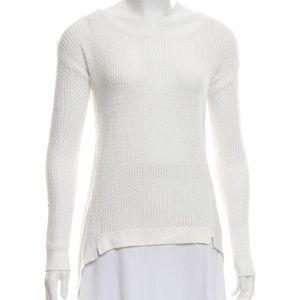 Alice + Olivia Sheer White Sweater